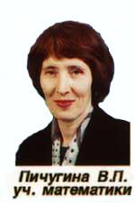 Пичугина В.П. - учитель математики